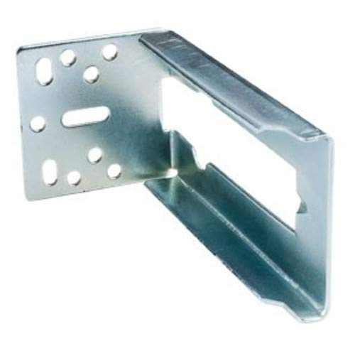 Hardware Resources 307FU2 307FU Series Rear Mounting Bracket for Face Frame and, Zinc