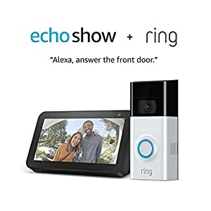 Amazon.com: Ring Video Doorbell 2 with Echo Show 5 (Charcoal): Amazon Devices image
