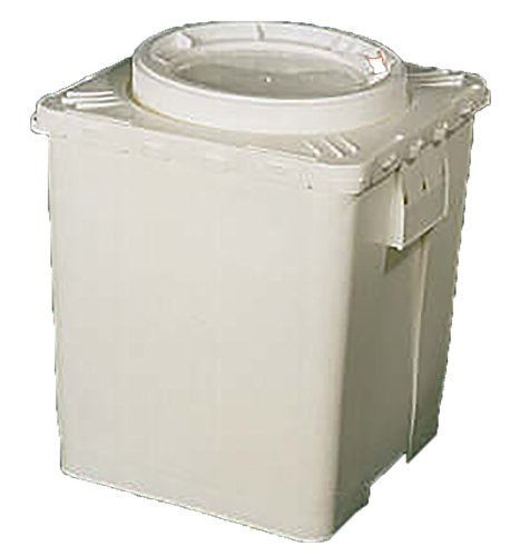 Life Latch 11.3 GAL Bucket with Screw Top Lid | Plastic | White |. Square by BayTec