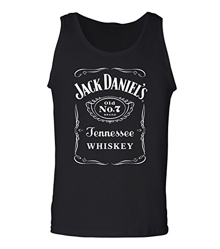 Jack Daniel's Whiskey Men's Tank Top : Saloon Shirt,Medium,Black