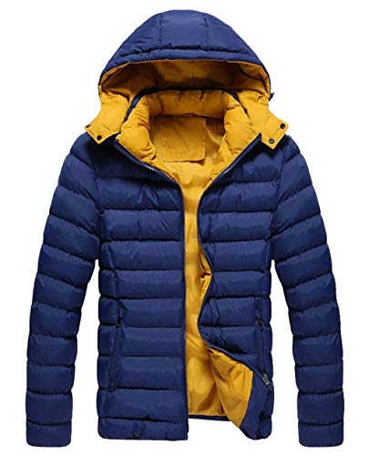 Adelina Slim Outerwear Deepblue Quilted Hooded Jacket Cotton Men's Coat Coat Long Down Thick Down Sleeve Jacket Chaude Thicken Warm rqRar5