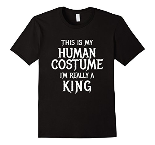 Mens I'm Really a King Halloween Costume Shirt Funny Men Boys XL Black