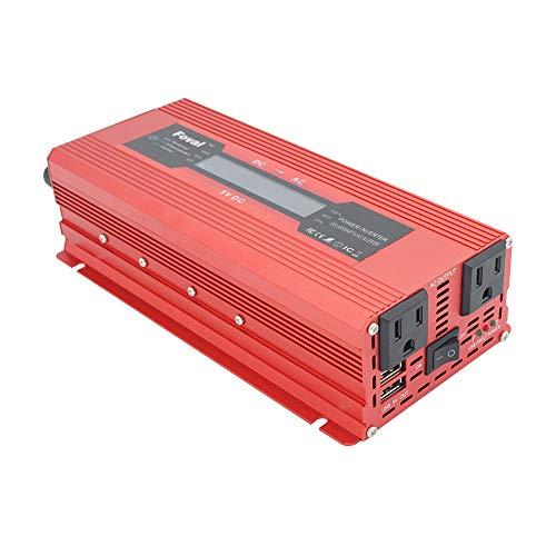 TOPmountain - 2000W Peak Solar Power Inverter for Car,DC 12V to 110V AC Converter for Phone Home Appliances