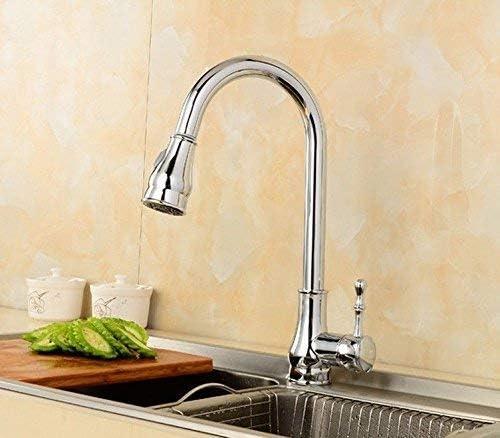 ゆば シンクミキサータップキッチンバスルームシンクのリークプルーフ蛇口保存水の浴室すべての真鍮クロームホットワイドネックと冷たい滝