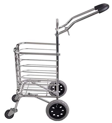 LQBDJPYS 쇼핑 트롤리 알루미늄 합금 4 롤링 바퀴 피크닉 야외 접는 수하물 가방에 대 한 대용량 휴대용