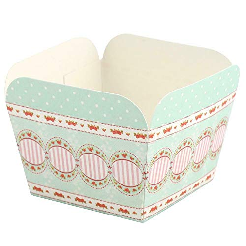 Bakefy®- 20 Cup Square Colorful Paper Cake Cupcake Liner Case Wrapper Muffin Baking Cup Supplies