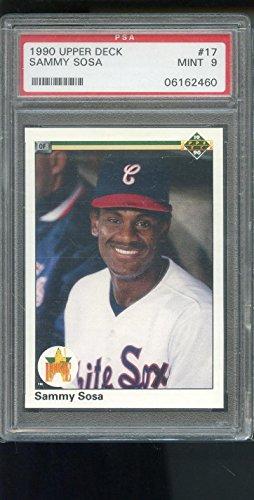 1990 Upper Deck #17 Sammy Sosa ROOKIE RC MINT Cubs PSA 9 Graded Baseball Card
