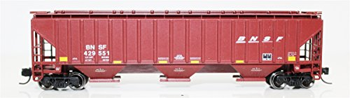 4750 Hopper - Fox Valley Models N 85005 4750 Cu.Ft. 3-Bay Covered Hopper, BNSF Railway (Boxcar Red, Small Wedge Logo)