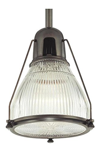 Haverhill Pendant Lighting - Old Bronze Haverhill 1 Light Pendant with Ribbed Glass Shade
