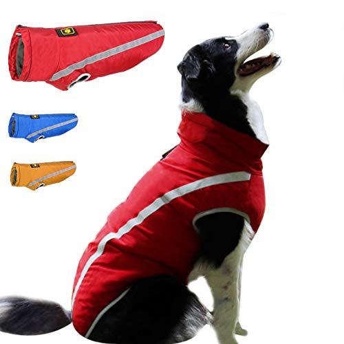 FEimaX Dog Coat Waterproof Windproof Pet Warm Jacket Outdoor, Puppy Reflective Adjustable Outfit Vest Cold Winter…