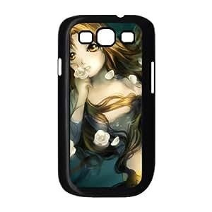(UXHT) Anime Mermaid Samsung Galaxy S3 9300 Cell Phone Case Black