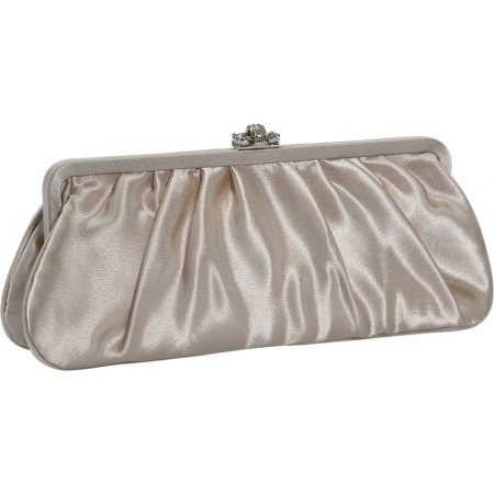 J Furmani JF20290-CMP Large Satin Clutch Bag - (Furmani Satin Clutch)