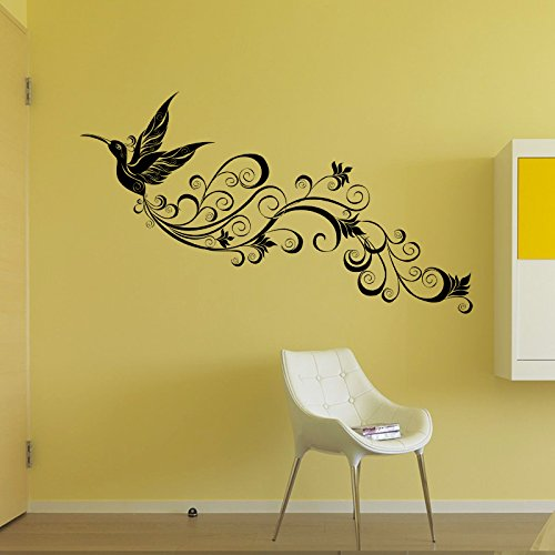 Oren Empower Creative Floral Peacock Wall stickers for living room (Finished Size on Wall - 45 cm X 140 cm)