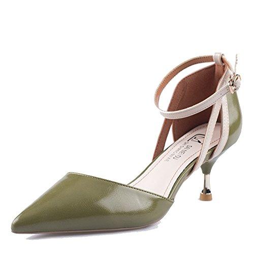 Schuhe 6cm Heels High Court Sexy Hochzeit Damen Spitzen Party Kleid Green Zehen 35 Pumps UK 3 EU Damen FPqpOxAwWU
