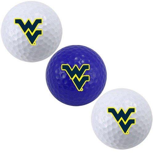 Team Golf NCAA West Virginia Mountaineers Regulation Size Golf Balls, 3 Pack, Full Color Durable Team Imprint