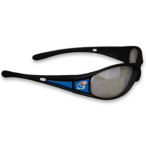 Kansas Jayhawks Black Sunglasses - 1