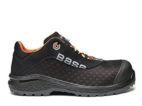 lacé Trainer orange Plus BO878 SRC Fit Noir base S1P antidérapante Classic Mens chaussure sécurité 4vHzg4x