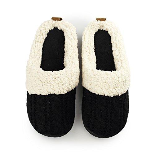 Black Dearfoams Mule Josie Black Slippers Ladies wUqXUPT