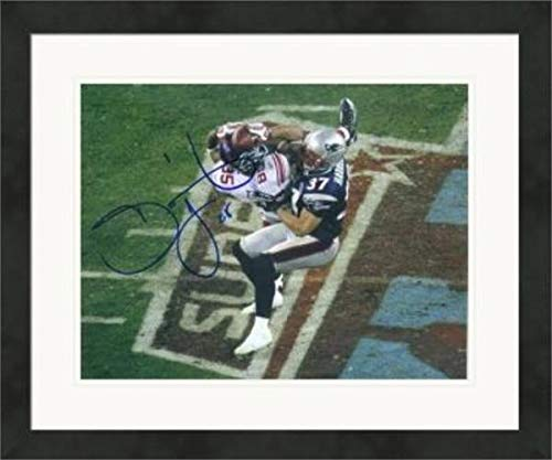Super Bowl Nfl Autographed (Autographed David Tyree Photo - 8x10 The Super Bowl XLII Catch #1 Matted & Framed - Autographed NFL Photos)