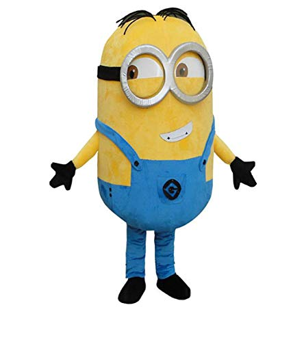 Adult Mascot Costume Parts Accessories for Minions Yellow Cosplay Character (Minion 2 Eyes) -