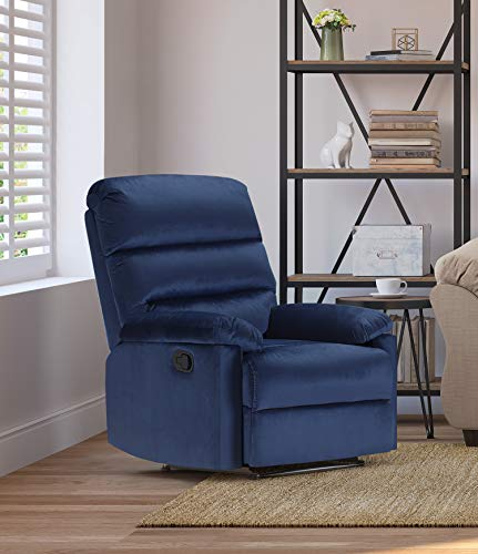 Truly Home UPH10156B Davis Recliner Navy Blue Navy Blue ()