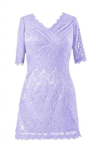 Vintage Lavender DaisyFormals Lace Party V Short Dress Dress neckline 7 BM2531 Lace Formal 7wpY1w