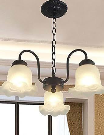 floriform colgante alternativos, 3 luces, cristal y madera, color blanco, año