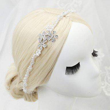 YiLuFanHua MJW&G Femme Jeune bouquetière Strass Alliage Imitation de Perle Casque-Mariage Occasion spéciale Serre-tête 1 Pièce