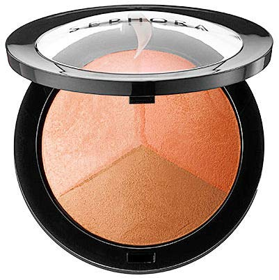 Baked Matte Satin - Sephora Collection MicroSmooth Baked Sculpting and Contour Trio Palette in Spirited 3-in-1 Luminizer Highlight, Matte-Satin Blush and Bronzer Large Size Authentic