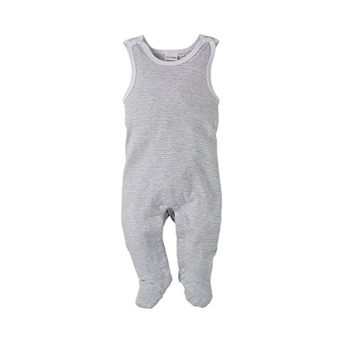 BORNINO Strampler Baby Strampelanzug, Größe 74/80, grau