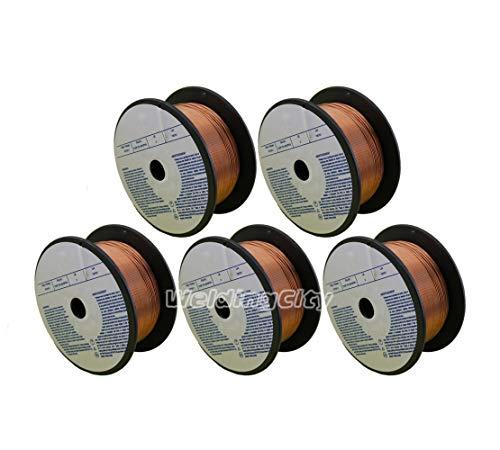 WeldingCity 5 Rolls of ER70S-6 ER70S6 Mild Steel MIG Welding Wire 2-Lb Spool 0.030