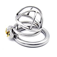 Yocitoy Metal Male Chastity Cage made of 304 Steel Stainless belt Cock Penis Lock Chastity Device K240 (45mm ring)