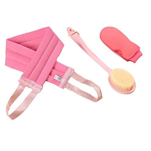 Frjjthchy Dry Skin Body Brush Set Shower Back Brush Remove Dead Skin for Man and Women (Pink) by Frjjthchy