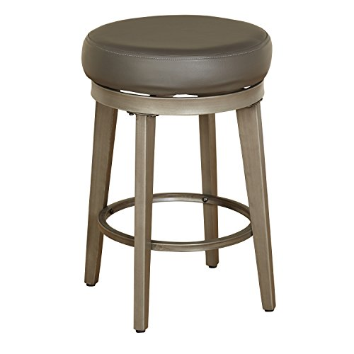 Angelo: HOME 80924GRY PR Linden Swivel Stool Set of 2, 24-inch by angelo:HOME (Image #1)