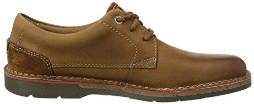 Clarks Edgewick Plain, Zapatos de Cordones Derby para Hombre Marrón (Tan Leather)