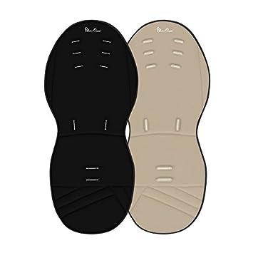 Silver Cross - Colchoneta reversible y acolchada pioneer/wayfarer para coche de paseo negro/beige: Amazon.es: Bebé