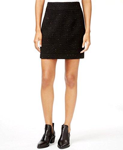 Black Tweed Skirt (MAISON JULES $49.5 NEW 10980 Textured Metallic Tweed Mini Womens Skirt 12)