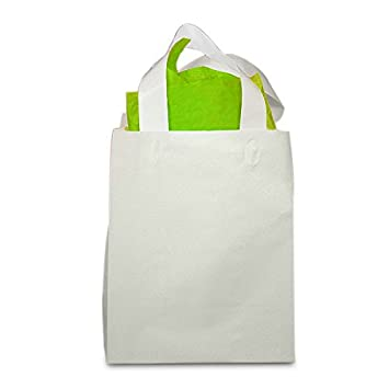 Amazon.com: HDPE esmerilado de color blanco bolsas de ...