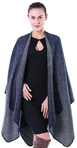 Blanket Shawl Purple and Blue