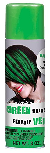 AMSCAN HCS-03 Party Perfect Team Spirit Colored Hair Spray Accessory, Green, Non-Damaging, 3 (Boys Spray)
