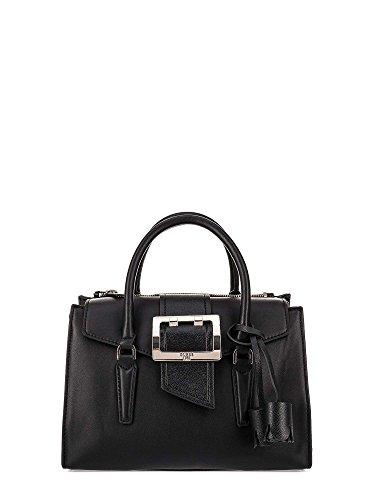 Guess Tori Ladies Medium PU Leather Flap Satchel VG685605BLA