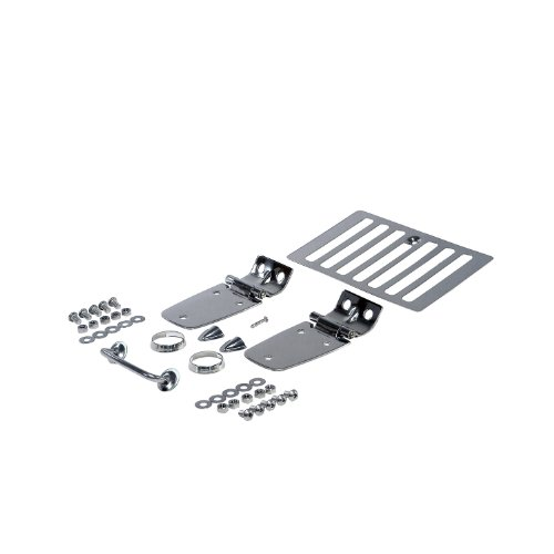 Rugged Ridge 11101.03 Stainless Steel Hood Kit - 8 - Steel Kit Stainless Hood