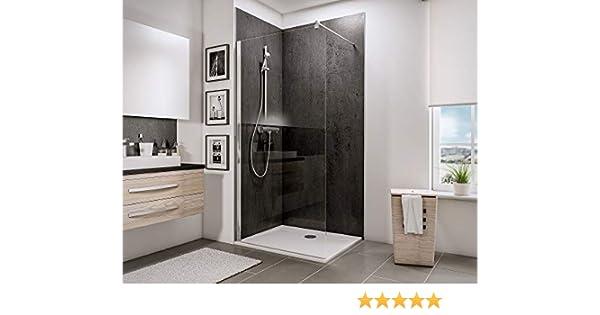 Schulte 4060991014352 mampara de ducha fija, transparente, 100 x ...