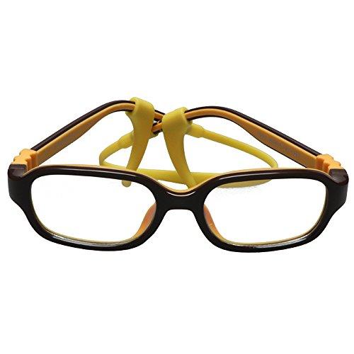 Fantia Ultra-Light Candy-Colored Children's Glasses Non-Slip Rope Kids Eyewear (C3) by Fantia