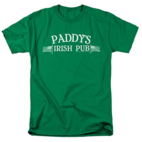 It's Always Sunny In Philadelphia Paddy's Pub T Shirt & Exclusive Stickers (Large) Green]()