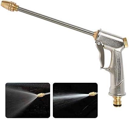 Pistola De PulverizacióN De Manguera De JardíN De Agua A Alta PresióN,Long Metal Spray FuncióN Multi Pistola Pistola Para Lavado De Autos Plantas Riego Mascotas Ducharse