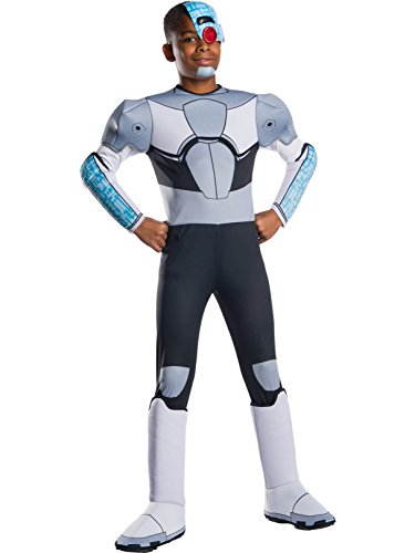 Rubie's Boys Teen Titans Go Movie Deluxe Cyborg Costume, As Shown, Large]()
