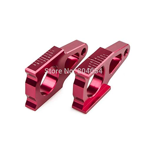 Win By - BILLET CNC REAR AXLE BLOCKS FOR HONDA CR125R CR250R 2002-2007 CRF250R CRF250X 2004-2015