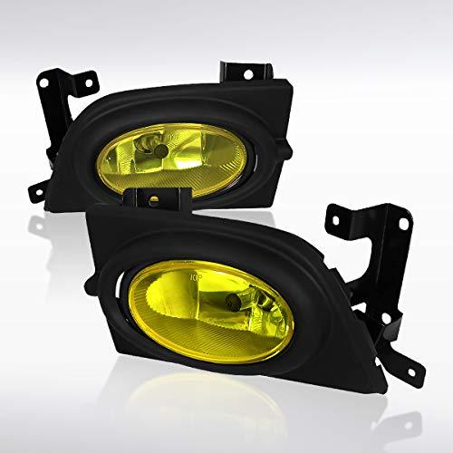 (Autozensation For Honda Civic 4DR Sedan Yellow Bumper Fog Lights Lamps+Switch+Bulb)