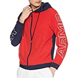 Under Armour Men's Baseline Full Zip Woven Jacket, Red (600)/White, Small